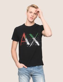 ARMANI EXCHANGE PIXELATED PATCHWORK LOGO TEE Logo T-shirt Man f