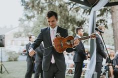 Tyler played the ukulele for his sister's wedding :')