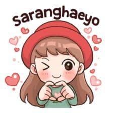 Memes love language 61 ideas for 2019 Korean Phrases, Korean Words, Chibi, Anime Korea, Korean Stickers, Korean Expressions, Pop Stickers, Kawaii Stickers, Korean Lessons