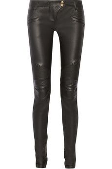 Balmain Moto-style leather skinny pants | NET-A-PORTER