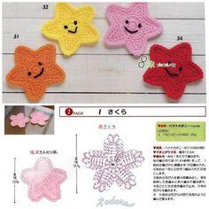 stars crochet motif