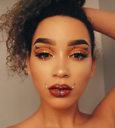 over embellished but nice colors Makeup On Fleek, Kiss Makeup, Makeup Art, Beauty Makeup, Eye Makeup, Hair Makeup, Makeup Is Life, Makeup Goals, Makeup Inspo