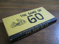 Rare Collectible Board Game - The Game of Go -  Complete (WM F. Drueke and Sons, Inc. 1951). $30.00, via Etsy.