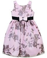 Jayne Copeland Girls' Floral Mesh Glitter Dress