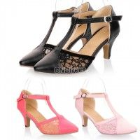New Women's Sexy Beautiful Retro Kitten Heels Sandals Shoes 3 Colors