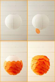 DIY: Paper lanterns •   Art And Chic