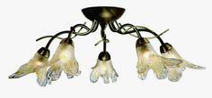 Lily - svietidlo stropné - sklo - antický bronz cena 158,40e