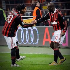 Ronaldinho and Seedorf AC Milan