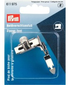Prym Adjustable Zipper Foot 611975 universal fits most domestic home sewing machines available from loveellie.com @LoveEllieBags