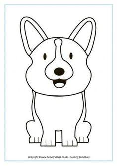 "FREE PDF Corgi Colouring Page lots of corgi things here including a ""how to draw a corgi"" tutorial download"