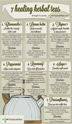 7 Healing herbs in teas