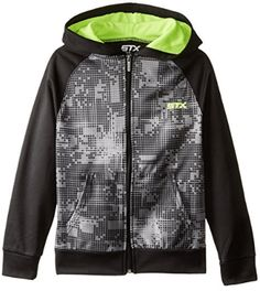STX Little and Big Boys' Fleece Zip Hoodie Sweatshirt Clothing Websites, Clothing Labels, Clothing Patterns, Clothing Consignment Shops, Altering Clothes, Yellow Print, Sweatshirt Dress, Fleece Hoodie, Big Boys