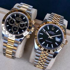 Daytona VS Datejust 41 👑 Which would you pick? Diesel Watches For Men, Best Watches For Men, Mens Sport Watches, Luxury Watches For Men, Stylish Watches, Cool Watches, Audemars Piguet, Patek Philippe, Breitling