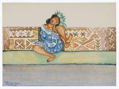 Walter Battiss (1906 - 1982)   Post-Impressionism, Primitivism   Tahitian girl Walter Battiss, African Dance, Green Beach, Life Symbol, Famous Words, Art Database, Fat Women, Short Film, Erotica