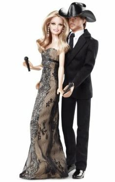Barbie Collector Tim McGraw And Faith Hill Doll Gift Set by Mattel. $49.95. Faith looks glamorous in a dress made for the red carpet with a glitter pattern and lace overlay. Celebrating country music's ultimate power couple, Tim McGraw and Faith Hill. This chart topping celebrity couple continues to have success with #1 hits and setting tour records with the highest-grossing country tour of all time. Tim is dressed in a black suit with his classic black Stetson ...
