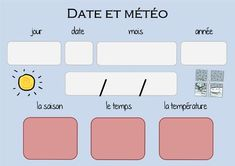 RITUEL calendrier perpétuel pour date et météo Date, Eyeshadow, Display, Meteorology, French Tips, Stuff Stuff, Perpetual Calendar, Verb Words, Floor Space