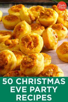 50 Christmas Eve Party Recipes Mini Caramel Apples, Caramel Apple Cheesecake, Christmas Recipes, Christmas Eve, Holiday Recipes, Party Recipes, New Recipes, Cooking Recipes, Lamb Skewers