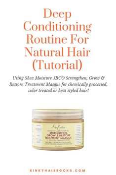 Deep Conditioning For Natural Hair Routine Tutorial - Transitioning Hair Tips - Best Natural Hair Products, Natural Hair Tutorials, Natural Hair Care Tips, Natural Hair Regimen, Natural Hair Growth, Natural Hair Styles, Natural Beauty, Beauty Products, Routine