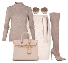 """""""Untitled #55"""" by divamanda on Polyvore featuring Le Silla, Hermès and Marc Jacobs"""