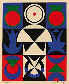 Auguste Herbin, VENUS, 1945. Herbin participated in the exhibit Section d'Or (1912) along with pioneers like Duchamp an his brother Villon (founders of the group Puteaux or Section d'Or)