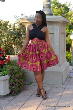 Pink and Brown Record Mini Skirt; African Clothing; African fashion; African Print; Skirt; African Clothing; Tribal Print; Mini, Pink Skirt - pinned by pin4etsy.com