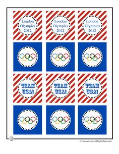 Fantasy Jr. | Olympics Party Printable Cupcake Toppers