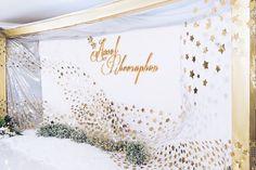 Starry Wedding, Wedding Stage, Wedding Ceremony, Wedding Photo Walls, Wedding Photos, Engagement Decorations, Wedding Decorations, Wedding Backdrop Design, Debut Ideas