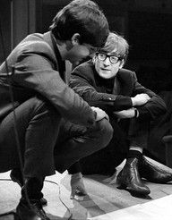 cool candid of John and Paul