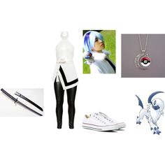 Absol cosplay idea by katie-lutz on Polyvore featuring Finders Keepers, Studio, Converse and Worn By