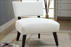 White faux leather accent chair...great for your next event!