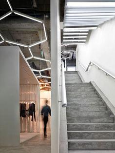 Maison Martin Margiela// hexagonal fluorescent lights// Beijing