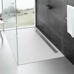 Fiora Elax Grey Slate Low Profile Linear Shower Tray – 48 Sizes - Main Image