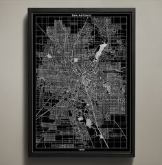 Each one of San Antonio's street names, tunnels, bridges, highways, parks and neighborhoods are clearly depicted in our San Antonio map print poster. Originally made in 1929, you can see the masterful artistry of its maker as clearly as if you were flying above the city yourself. Like all of our maps, this one is printed on quality paper that ensures it will last a lifetime. #san-antonio-map-print