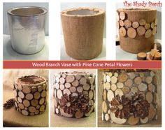 How To Make A Wood Branch Vase by The Shady Porch
