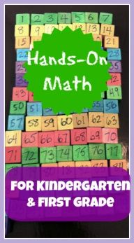 Lots and lots of math ideas for kindergarten and 1st grade -- hands on activities (not printables and worksheets)