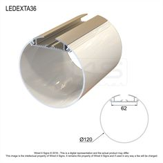 Round hanging profile designed to be used with LED Strip lights.