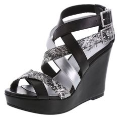 Slither your way into spring in this strappy wedge.