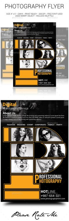 Photography Service Flyer  Photography Services Flyer Template