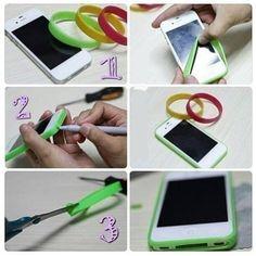 Ideas para el hogar: Protector de celular con banda elástica más económ...