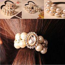 2015 mujeres los accesorios del pelo de las vendas del pelo de la venda principal banda perla broche para el cabello(China (Mainland))