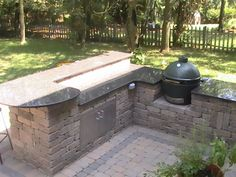 Big Green Egg Outdoor Kitchen Awesome Ideas