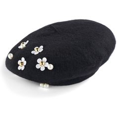 Designer Clothes, Shoes & Bags for Women Hat Embroidery, Embroidery Jewelry, Flat Platform Sandals, French Beret Hat, Types Of Hats, Candy Art, Wool Berets, Love Hat, Outfits With Hats
