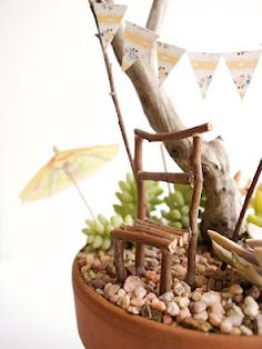 Fairy Furniture - A Stick Chair for your Fairy Garden