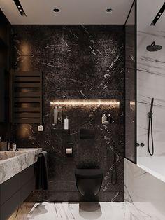 Apartment Sputnik - Dezign Ark (Beta) Home Room Design, Home Design Decor, Home Interior Design, House Design, Washroom Design, Bathroom Design Luxury, Ideas Baños, Modern Master Bathroom, Bathroom Inspiration