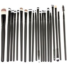 Bienaime Professional Makeup Brushes Set Cosmetics Foundation Blending... ($7.37) ❤ liked on Polyvore featuring beauty products, makeup, makeup tools, makeup brushes, black makeup brushes, makeup powder brush and powder brush