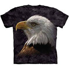 The Mountain BALD EAGLE PORTRAIT T-SHIRT Patriotic USA Bird America Tee S-3XL #baldeagle #baldeagletee