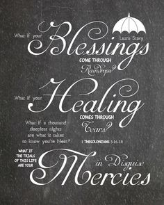 Blessings Laura Story Chalkboard Are by AltusPhotoDesign on Etsy, $3.00, DIY Print