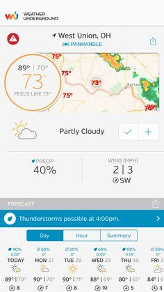 Ohio Weather, West Union, Weather Underground, Thunderstorms, Cgi, Feelings, Lightning Storms, Storms
