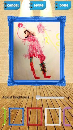 Kidpix: Save Your Kid's Art is an app for iPhone, iPad and Android that let's you store and share your kid's art. Keep the memories without the clutter!