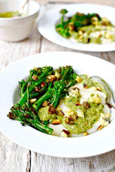 Polenta with Broccoli-Blue Cheese Sauce